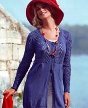 Cardigan con sprone ajour