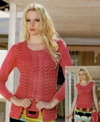 Set: cardigan ajour e top